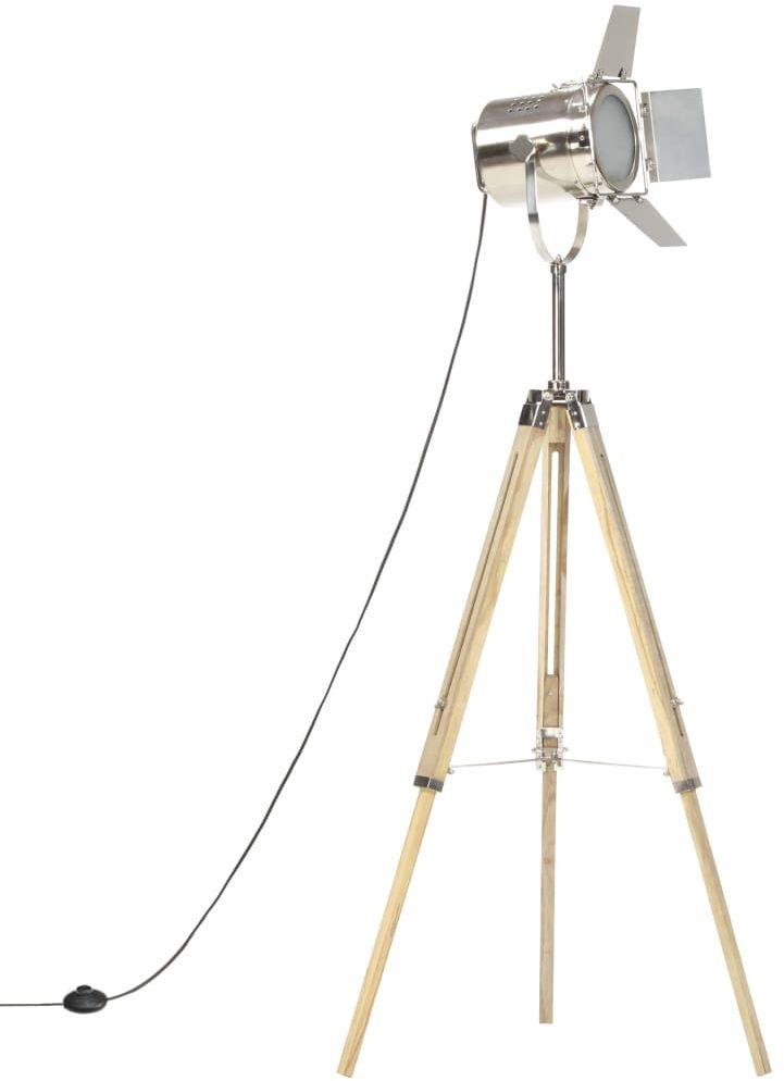 Drewniana lampa podłogowa vintage na statywie - EX196-Savita