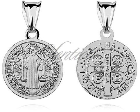 Srebrny medalik pr.925 - święty benedykt