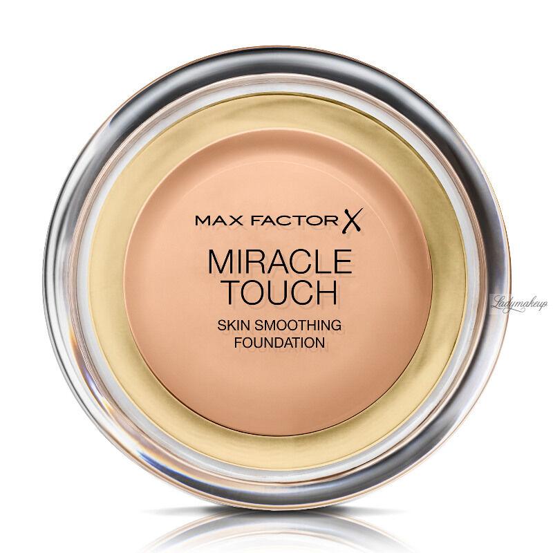 Max Factor - MIRACLE TOUCH - Skin Perfecting Foundation - Kremowy podkład do twarzy - 045 - WARM ALMOND