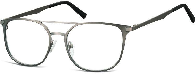 Okulary oprawki a''la Pilotki zerówki metalowe korekcyjne 974G grafitowy