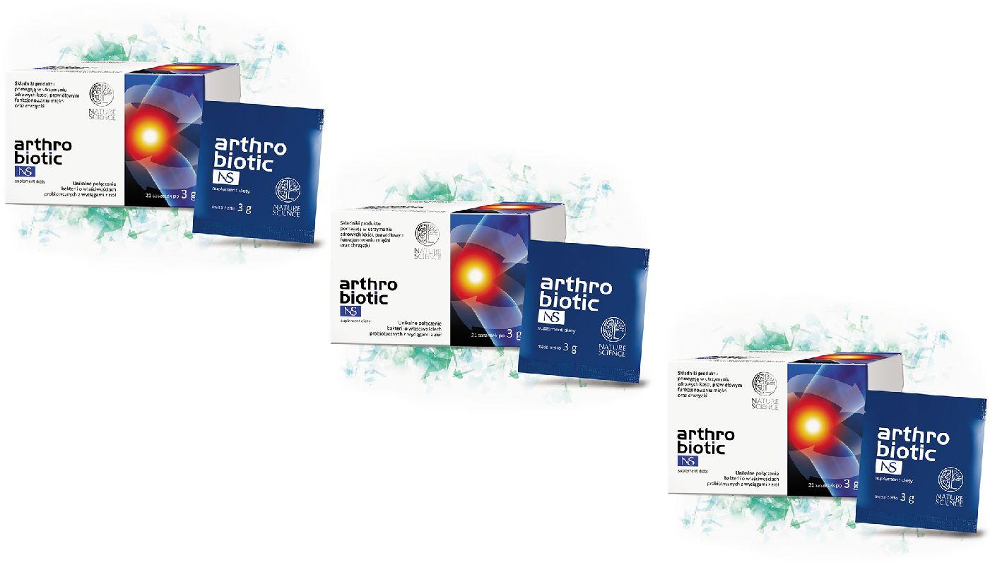 NATURE SCIENCE Arthrobiotic NS (Zdrowe kości mięśnie i chrzastki) 3 x 63g