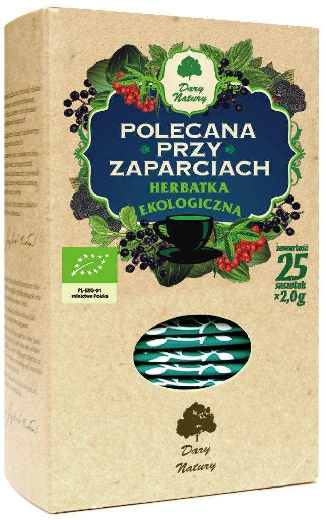 Herbatka polecana przy zaparciach bio 25 x 2 g - dary natury