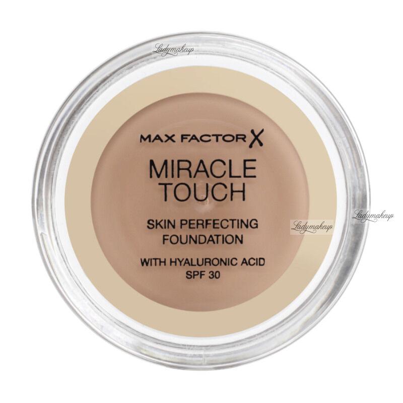 Max Factor - MIRACLE TOUCH - Skin Perfecting Foundation - Kremowy podkład do twarzy - 075 - GOLDEN
