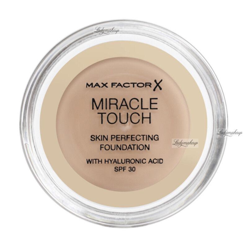 Max Factor - MIRACLE TOUCH - Skin Perfecting Foundation - Kremowy podkład do twarzy - 040 - CREAMY IVORY