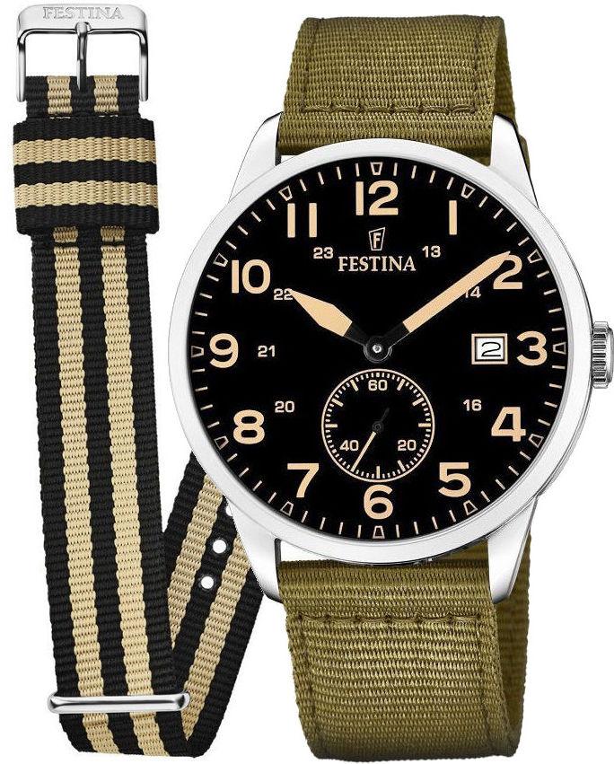 Zegarek Festina F20347-4 Retro - CENA DO NEGOCJACJI - DOSTAWA DHL GRATIS, KUPUJ BEZ RYZYKA - 100 dni na zwrot, możliwość wygrawerowania dowolnego tekstu.