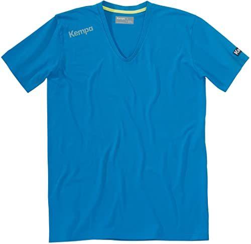 Kempa Męski T-shirt Core kołnierzyk V, niebieski kempa, XS