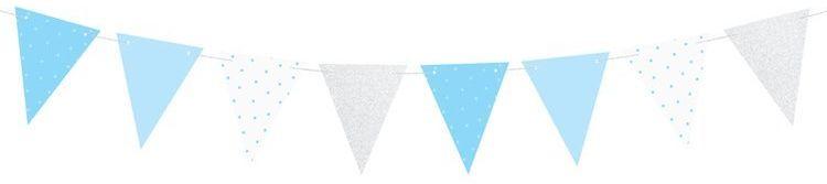 Girlanda flagi niebieskie 1,3m FLG7-011J