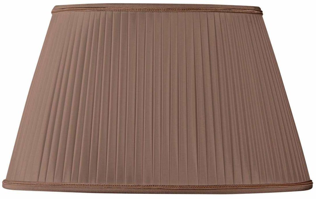 Owalny plisowany klosz o średnicy 20 x 13/15 x 10/12 cm (ręcznie rozciągany) kasztan