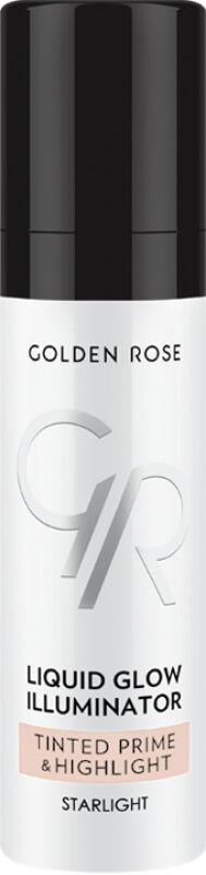 Golden Rose - Metals Liquid Glow Illuminator Tinted Prime & Highlight - Baza pod makijaż z efektem rozświetlacza