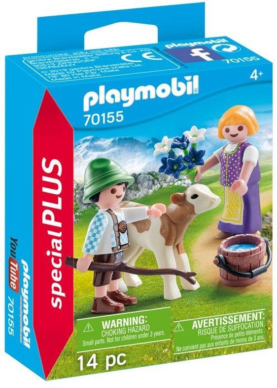 Playmobil - Dzieci z cielaczkiem 70155