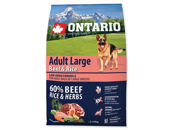 ONTARIO dog ADULT LARGE beef and rice