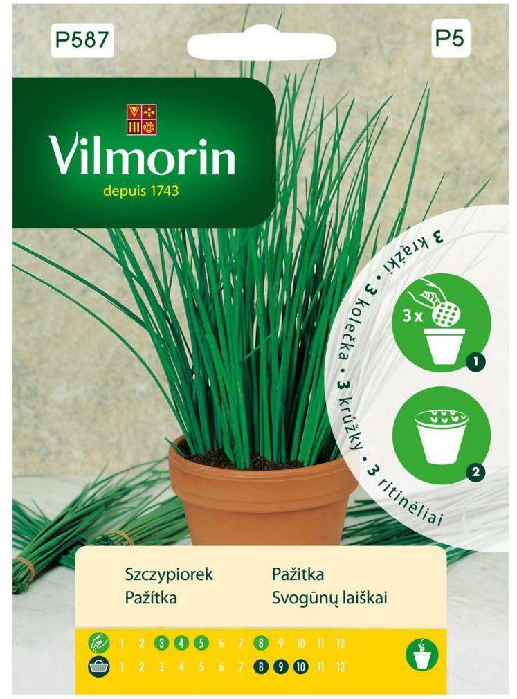 Szczypiorek nasiona na krążku 3 szt. VILMORIN