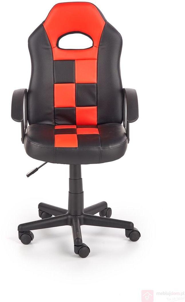 Fotel młodzieżowy STORM Czarno-czerwony
