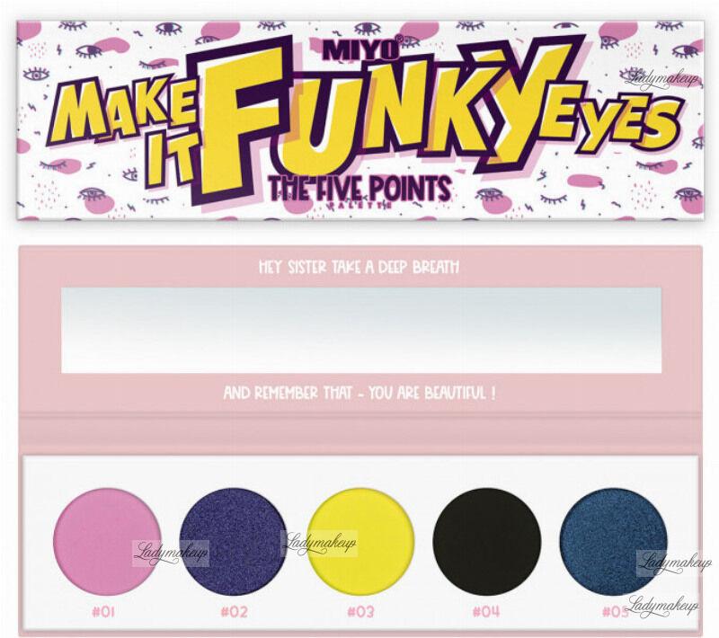 MIYO - FIVE POINTS - COLOR BOX EDITION - Paleta 5 cieni do powiek - 26 - MAKE IT FUNKY EYES