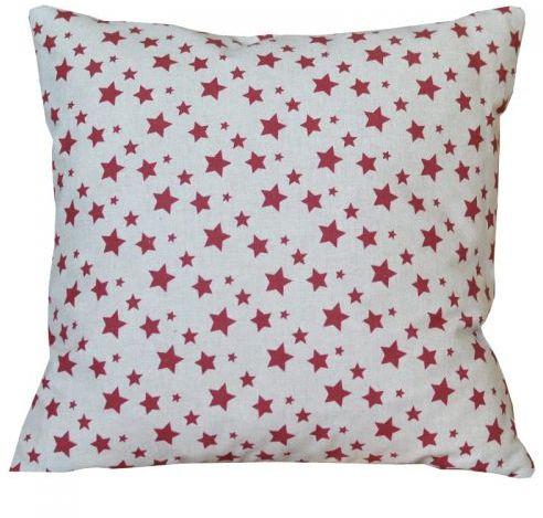 Poszewka świąteczna - Czerwone gwiazdki