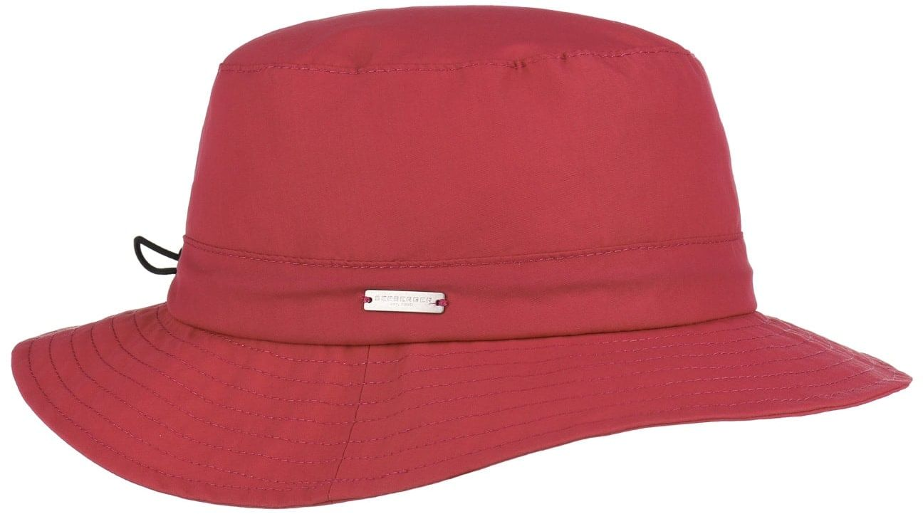 Kapelusz Outdoorowy Damski Lasina by Seeberger, czerwony, One Size
