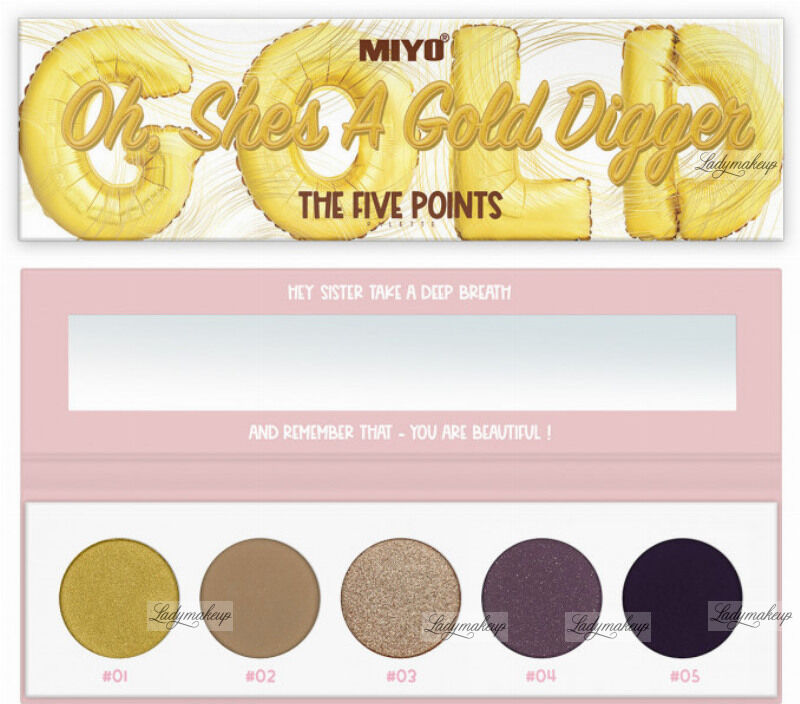 MIYO - FIVE POINTS - COLOR BOX EDITION - Paleta 5 cieni do powiek - 24 - OH, SH''S A GOLD DIGGER