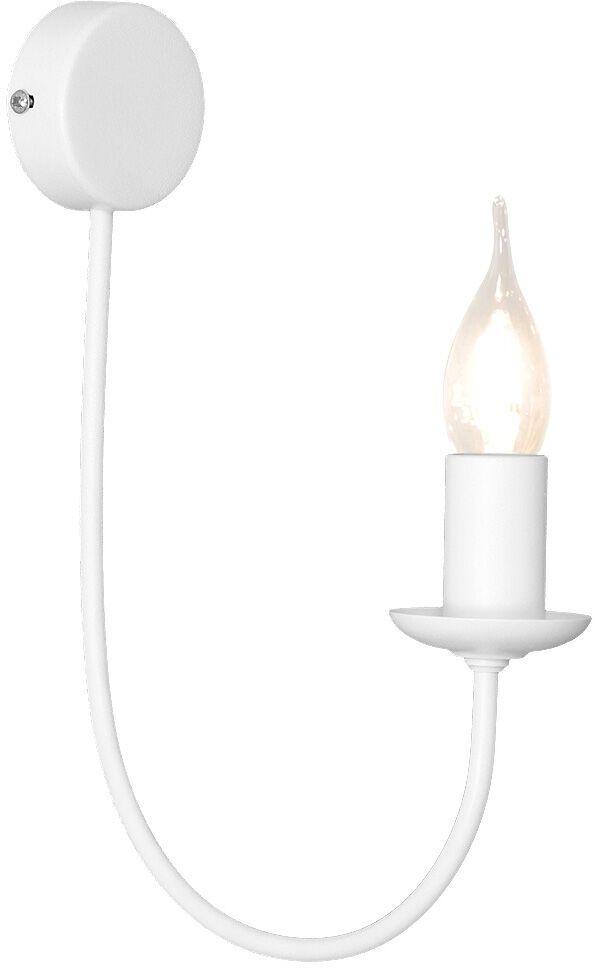 Kinkiet FEB 831C Aldex pojedyncza biała oprawa w minimalistycznym stylu