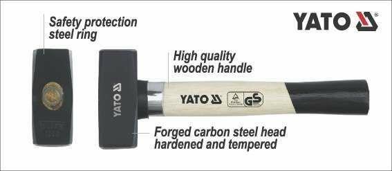 Młotek kamieniarski 1500 g Yato YT-4552 - ZYSKAJ RABAT 30 ZŁ