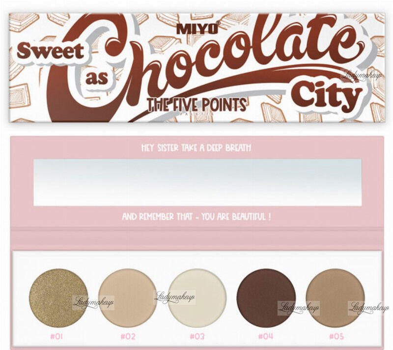 MIYO - FIVE POINTS - COLOR BOX EDITION - Paleta 5 cieni do powiek - 22 - SWEET AS CHOCOLATE CITY