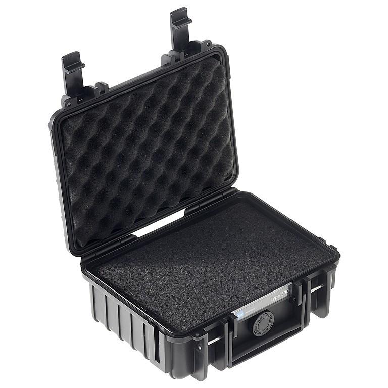 Walizka transportowa B&W outdoor.cases Typ 500 SI z gąbką Czarna