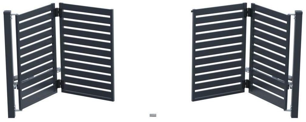 Brama uchylna łamana SZAFIR 415 x 150 cm z automatem POLARGOS