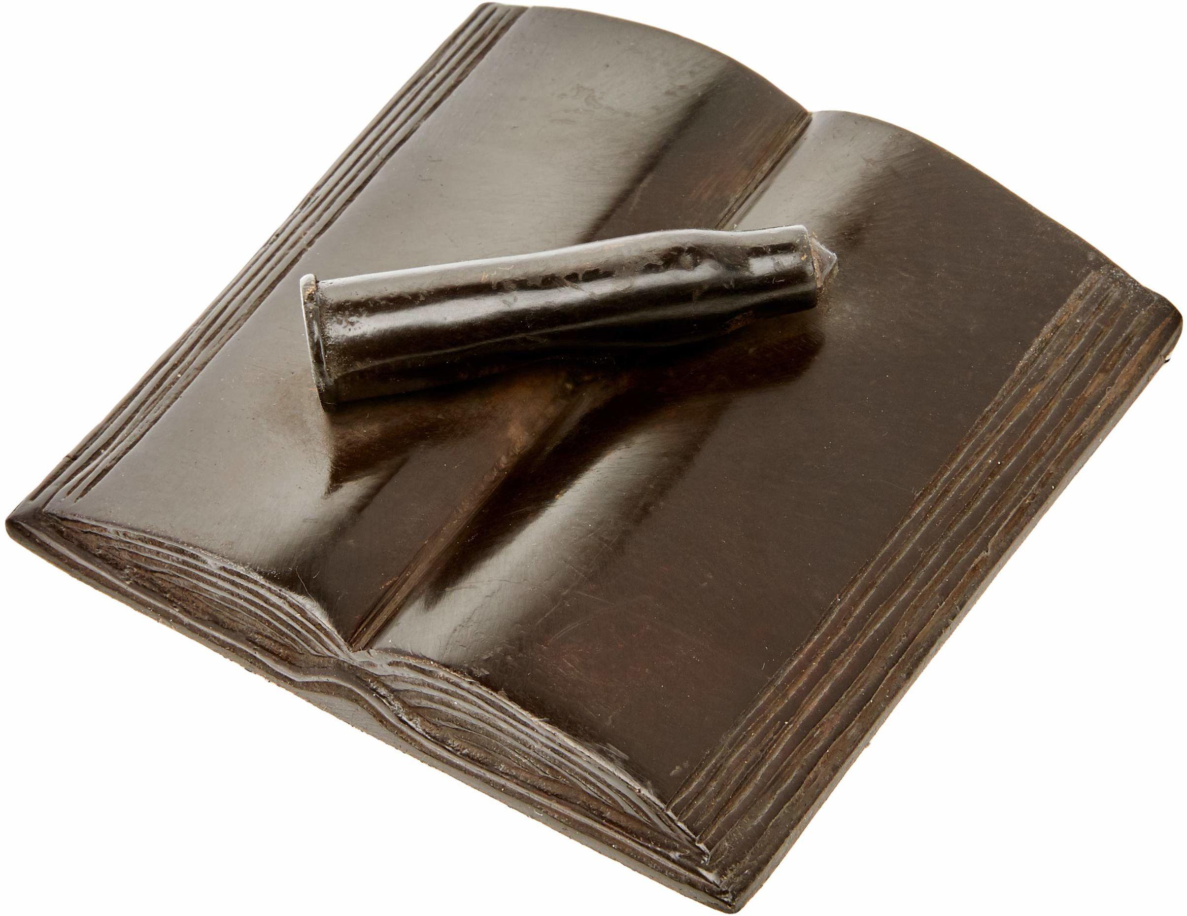 Better & Best Brass obciążnik do papieru z wkładką, czarny, wymiary 8,5 x 8,5 x 1,5 cm, materiał: mosiądz, biały, rozmiar uniwersalny