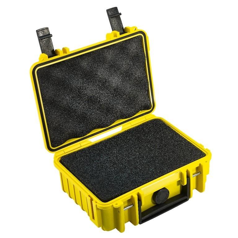 Walizka transportowa B&W outdoor.cases Typ 500 SI z gąbką Żółta - WYSYŁKA W 24H
