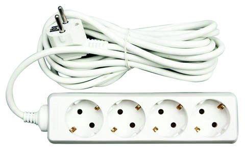 Przedłużacz elektryczny 4G B/U 3m.