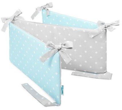 Ochraniacz do łóżeczka - Lovely Dots Mint & Grey