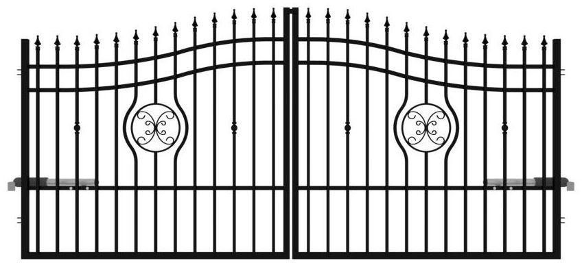 Brama dwuskrzydłowa MALAGA 350 x 160 cm z automatem POLARGOS