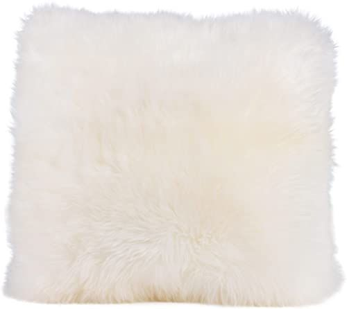 Gözze poszewka na poduszkę z owczej skóry, 40 x 40 cm, wełniana biel, 40149-00-4141