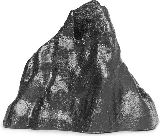 Świecznik stone mały czarne aluminium