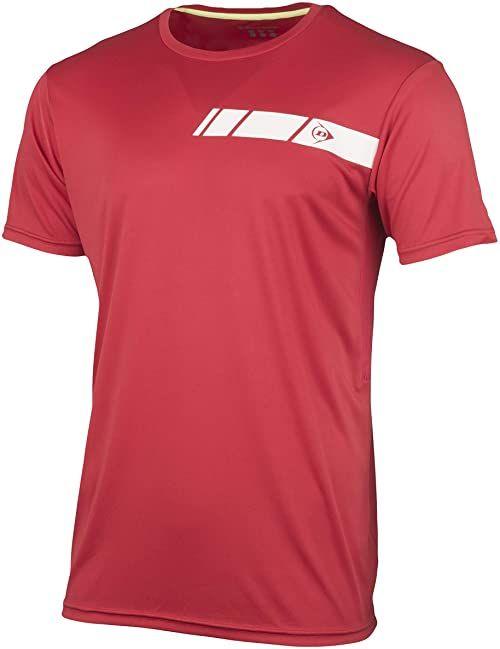 Dunlop Club Line Men Crew Tee, czerwony, S