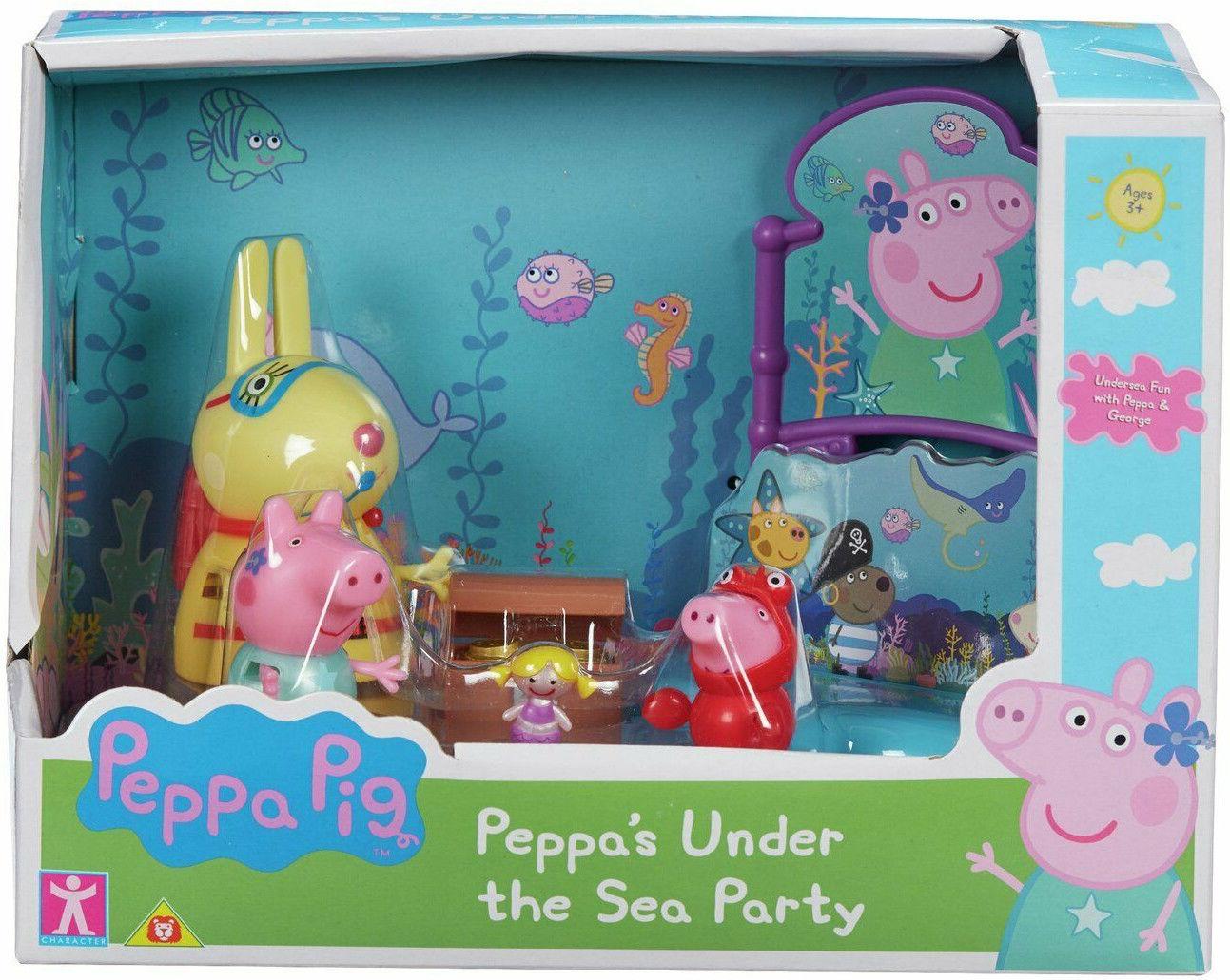 TM Toys Świnka Peppa Zestaw Podwodny Świat 3 figurki + akcesoria PEP07172