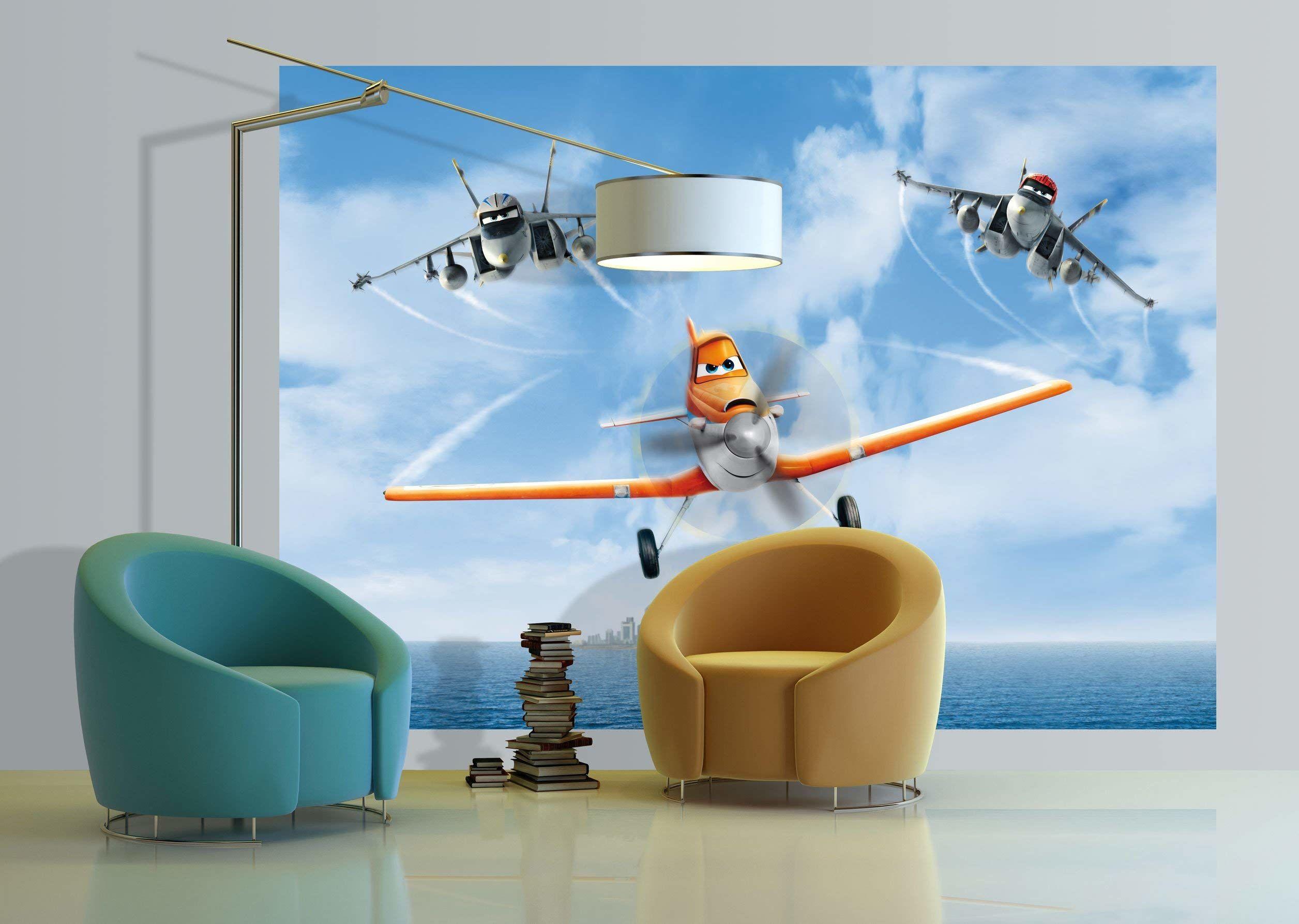 Disney Planes olbrzymi plakat ścienny, papier wielokolorowy, 255 x 180 cm