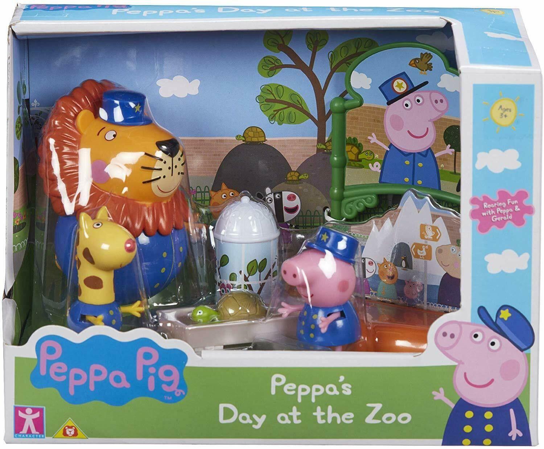 TM Toys Świnka Peppa Zestaw Zoo 3 Figurki + Akcesoria PEP07173