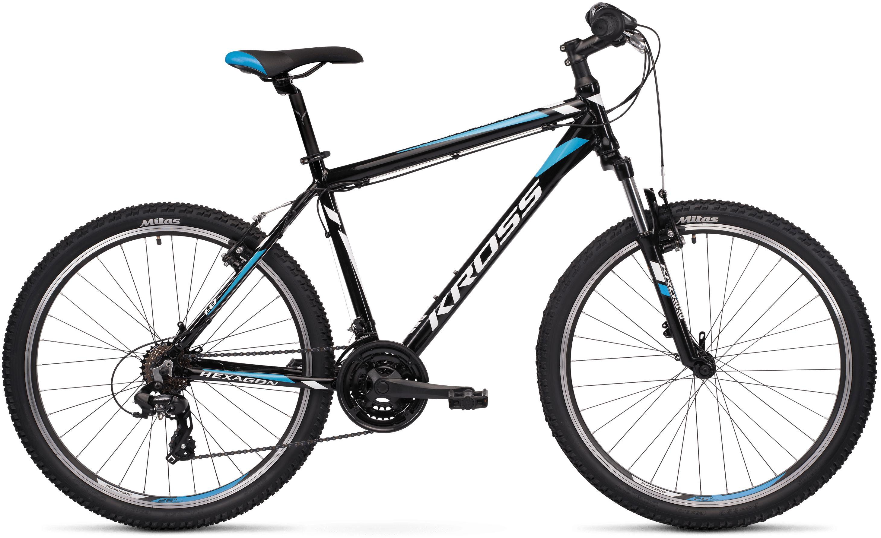 Rower Kross HEXAGON 1.0 26 czarno-niebieski...