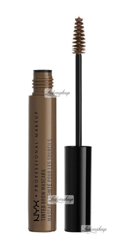 NYX Professional Makeup - TINTED BROW MASCARA - Tusz do brwi - BRUNETTE