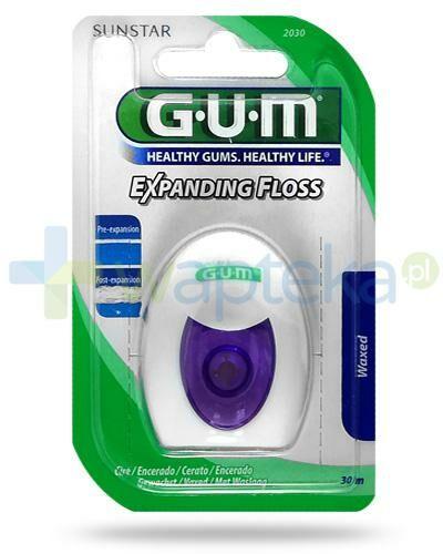GUM Expanding Floss Waxed nić dentystyczna, pęczniejąca 30 m