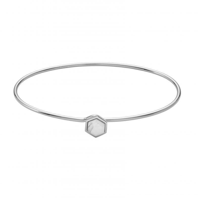 Biżuteria damska CLUSE Jewellery Idylle Silver Marble Hexagon Bangle Bracelet CLJ12002