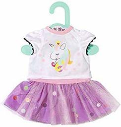 Zapf Creation 870563 Dolly Moda jednorożec koszulka z sukienką dla lalek Tutu 34-38 cm