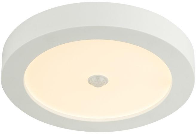 Globo PAULA 41605-18S lampa sufitowa biała czujnik ruchu LED 18W 22,6cm IP44