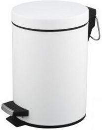 Kosz na śmieci 20 litrów - biały metalowy