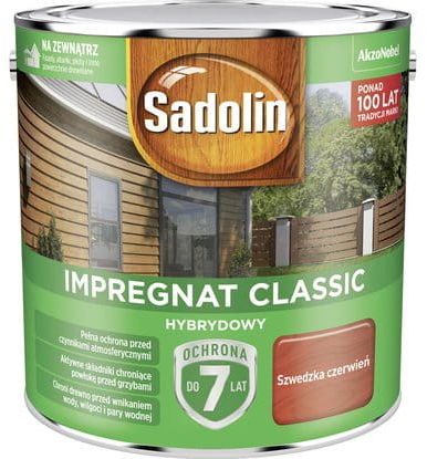 Sadolin Impregnat Classic Hybrydowy Szwedzka Czerwień 4,5L