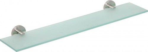 Półka szklana 60 cm stal nierdzewna szczotkowana mat szkło X-STEEL