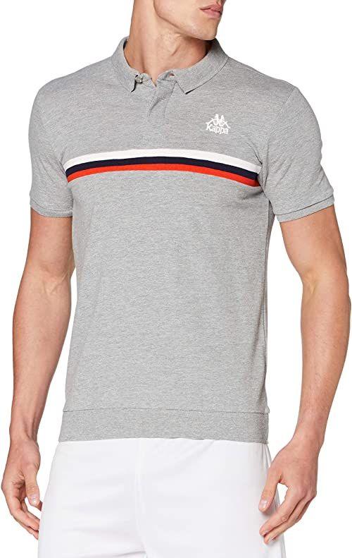 Kappa Męska koszulka Isard Polo, różowa/fioletowa, M