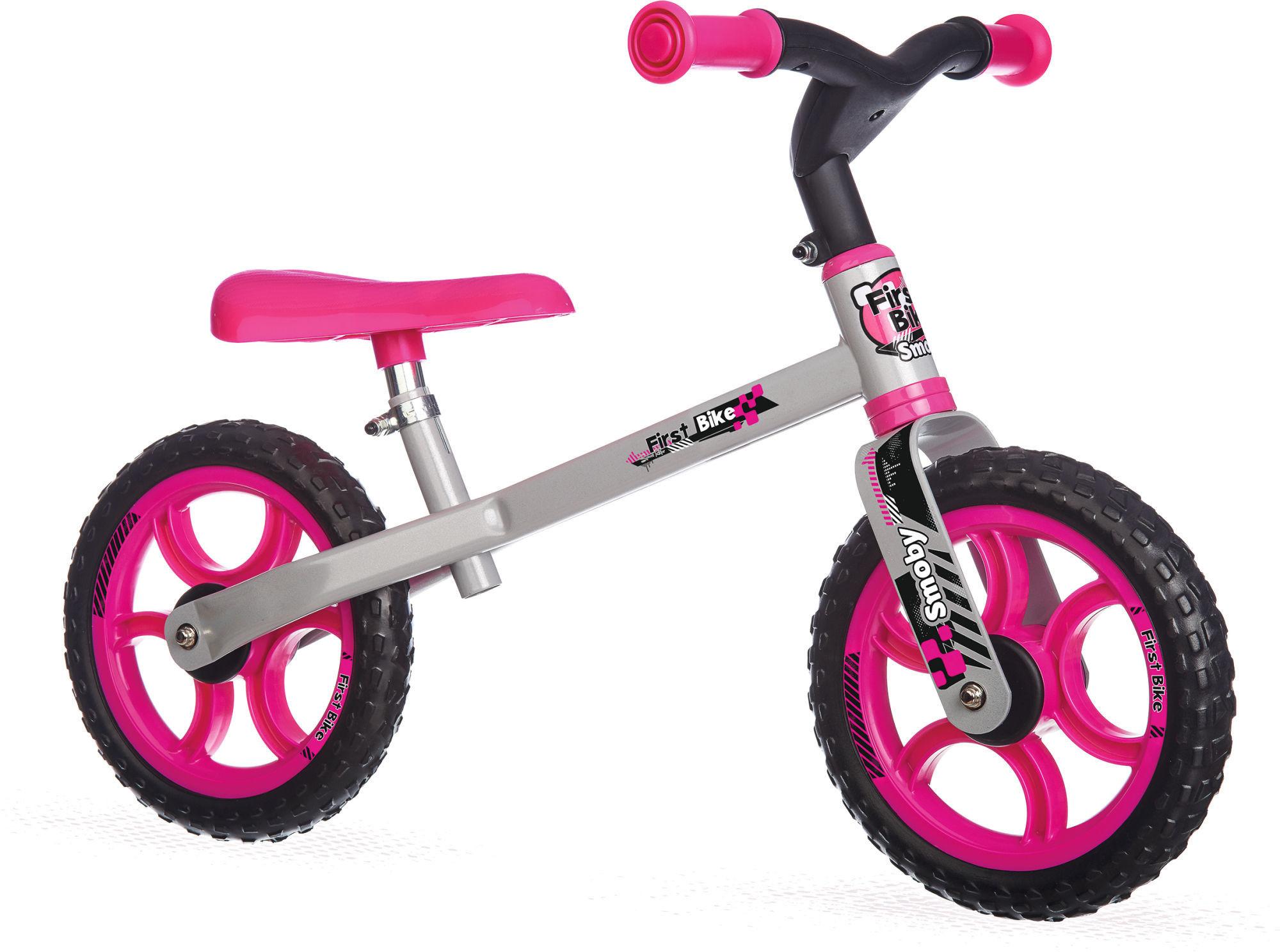 Smoby - Rowerek biegowy First bike różowy 770201
