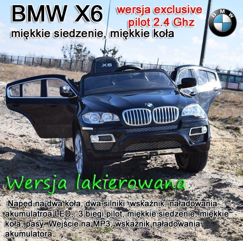 ORYGINALNE BMW X6 W NAJLEPSZEJ WERSJI,MIĘKKIE SIEDZENIE, KOŁA EVA,2.4 Ghz, LAKIER/JJ258