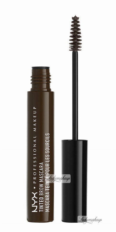 NYX Professional Makeup - TINTED BROW MASCARA - Tusz do brwi - BLACK
